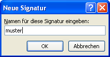 Signatur in Outlook 2007